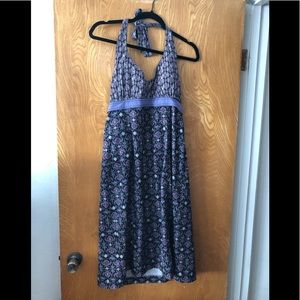 Athleta tie neck zip pocketed summer dress 12